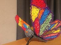 Mariposa hecha con pluma 3D